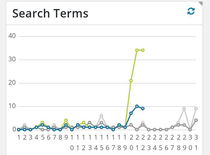 検索エンジンからの流入トラフィックグラフ