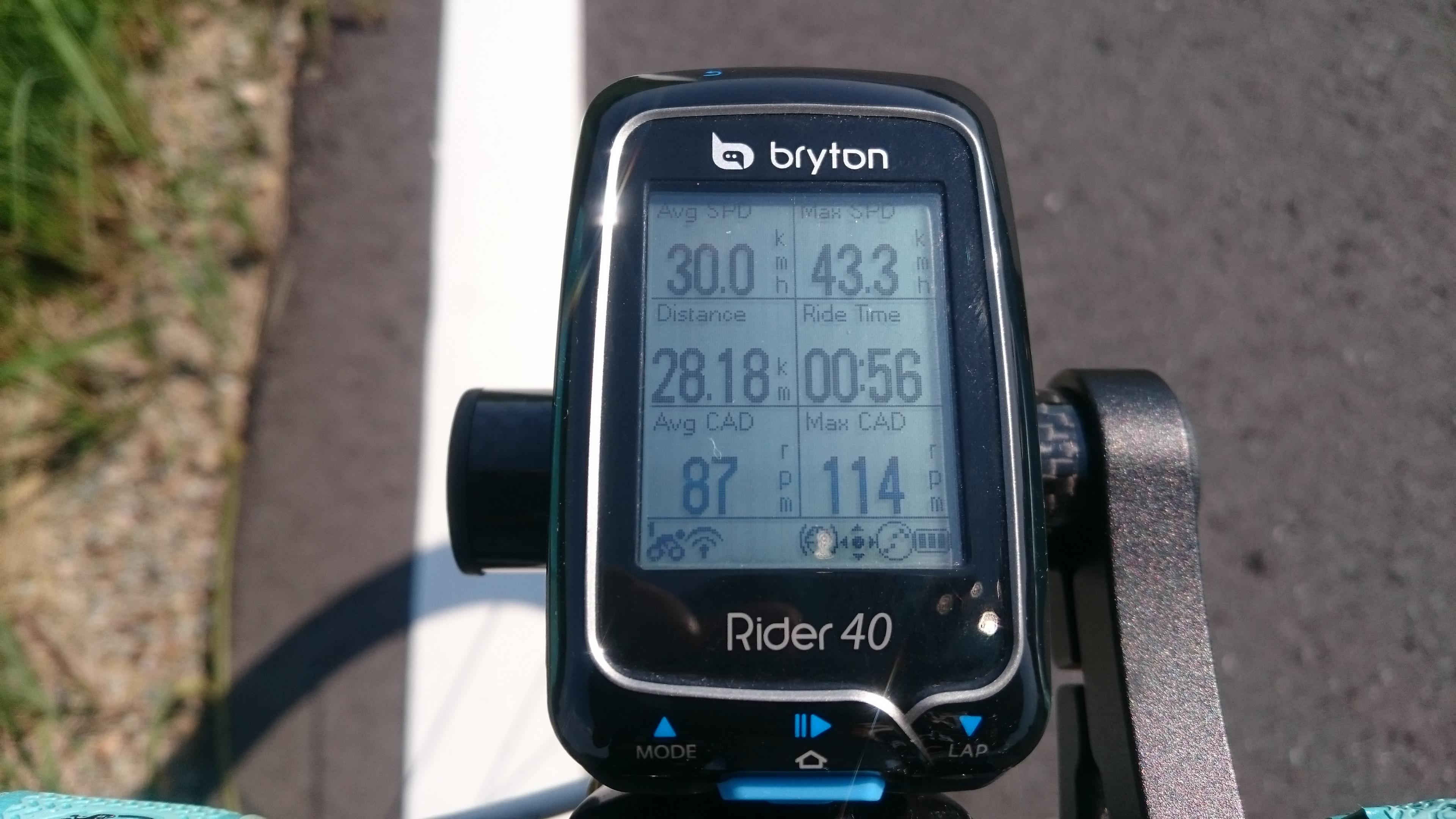 目標達成直前!Ave30km/h、Dis28.1km