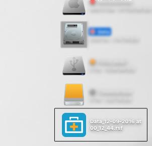 保存された結果ファイル